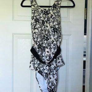 Old Navy Floral Swim Suit with belt
